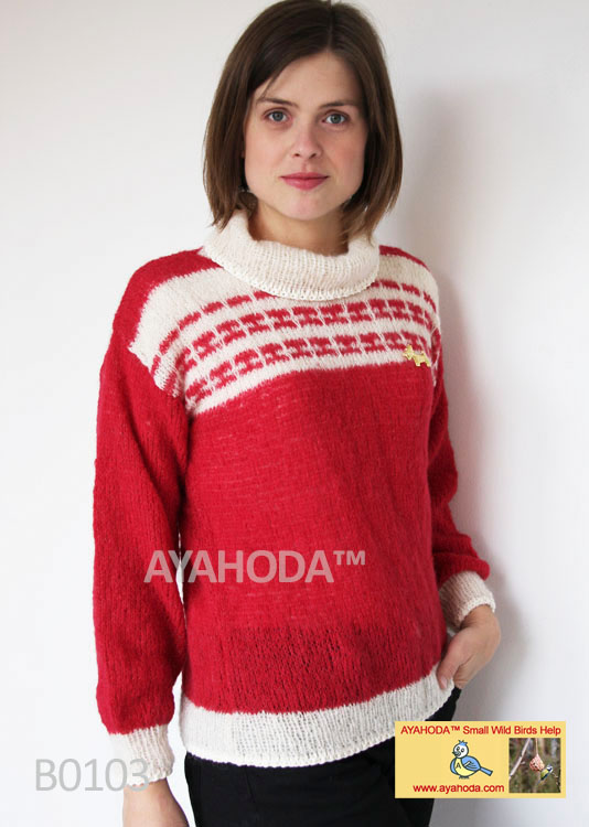 Women Sweater Alpaca silk Ayahoda design