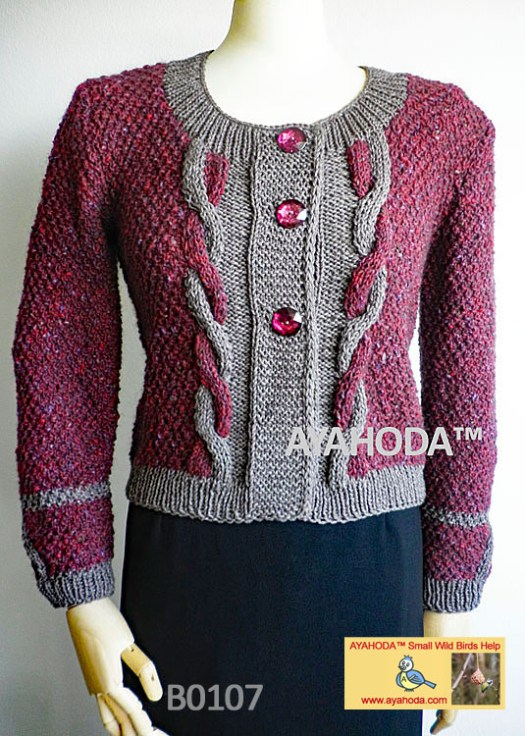 Women Knitwear Luxury sweater cardigan business knitwear Ayahoda handmade design