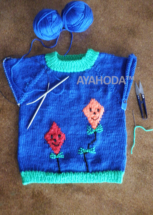 Ayahoda Handmade Kids Boys Girls sweater with kites