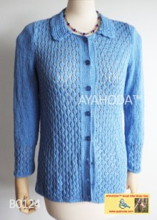 Women sweater cardigan lacy Ayahoda design B0124