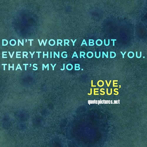 worry less, give thanks more