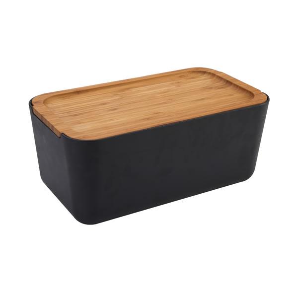 Biodegradable Bamboo Fiber Bread Bin with Cutting Board
