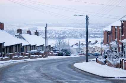 Snow on Sherburn Hill