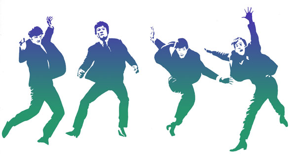 Beatles Twist and Shout 1963 by Ayd Instone