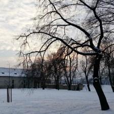 Winter sunset at Vysehrad