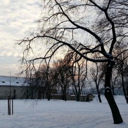 Winter sunset at Vysehrad