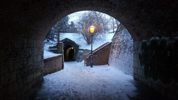 Under the entrance to Vysehrad