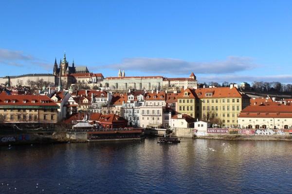 View of Prague Castle from Charles bridge Prague