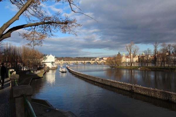 View of Charles Bridge and Kampa Muzeum