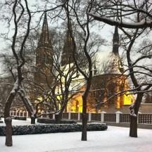 Vysehrad_inwintereveninglight_Prague_in_snow_squarephoto