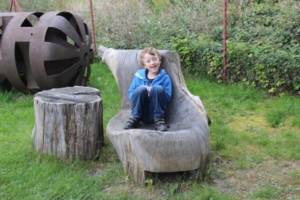 Czech sculpture Art Studio Bubec garden with wooden sculptures