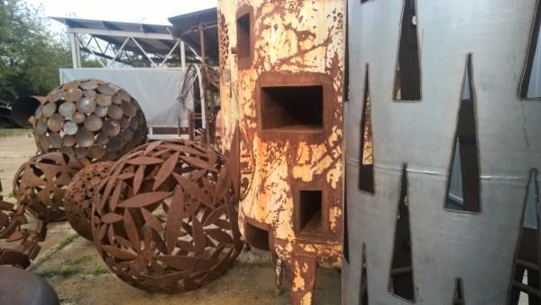 Art Studio Bubec garden with sculptures
