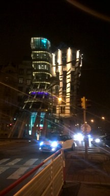 Prague-fall-photo-Dancing-House-at-night-traffic