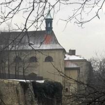 Emauzy-church-in-winter-in-snow-Prague