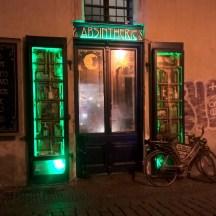 Prague-absinthe-shop-green-lights