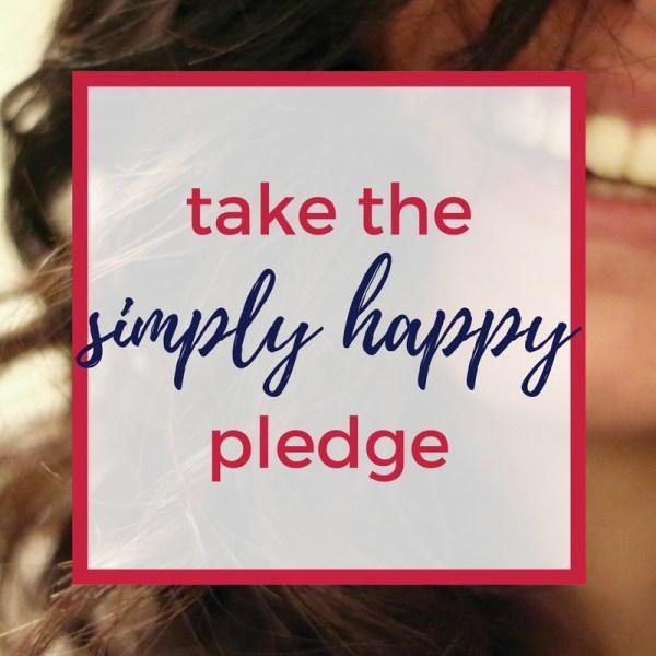 simply happy pledge