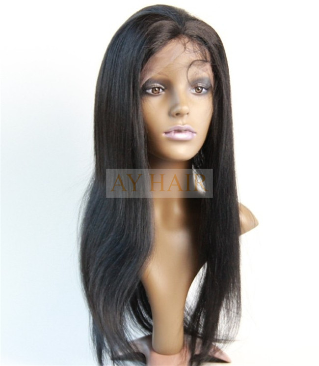 Full lace wig yaki straight color 1#01