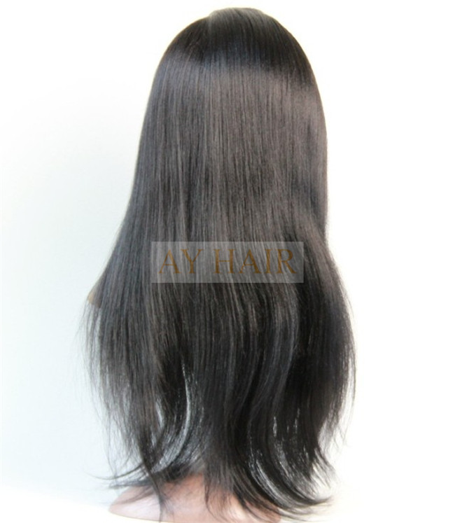Full lace wig yaki straight color 1#02
