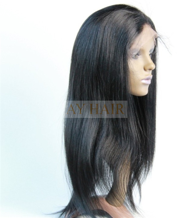 Full lace wig yaki straight color 1#04