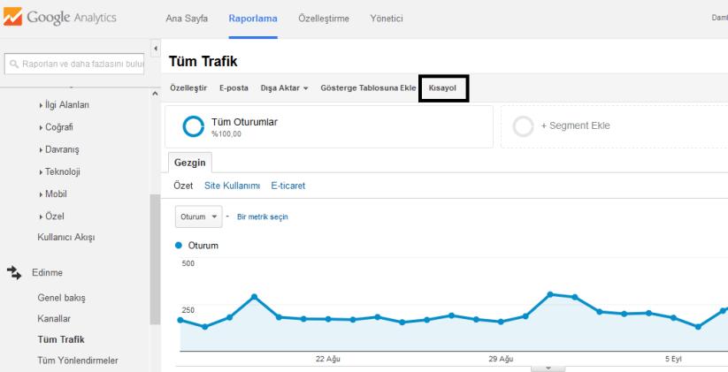 google-analytics-kisayol-olusturma