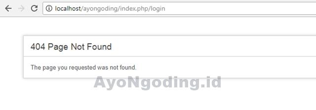 Halaman Error 404 pada CodeIgniter