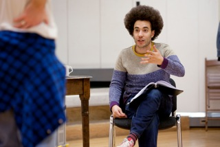 Justin Audibert in Gruesome Playground Injuries rehearsals by Ludovic des Cognets