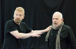 Kenneth Branagh and John Shrapnel in rehearsals for the Kenneth Branagh Theatre Company's production of Harlequinade. Credit Johan Persson