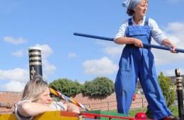 Idle Women and Judies, Heather Wastie, Kate Saffin, Isobel's War, canal, boat, Alarum Theatre, World War II, women