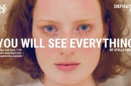 """A close up image of a young girl. The words: """"You will see everything"""" are written over the image."""