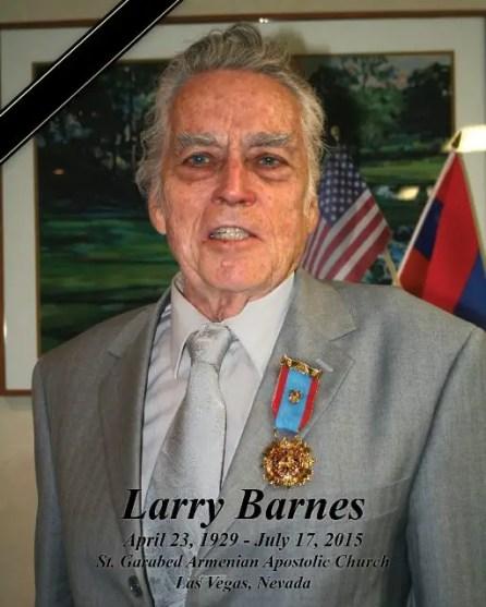 Larry Barnes Benefactor St. Garabed Church of Las Vegas Passes Away