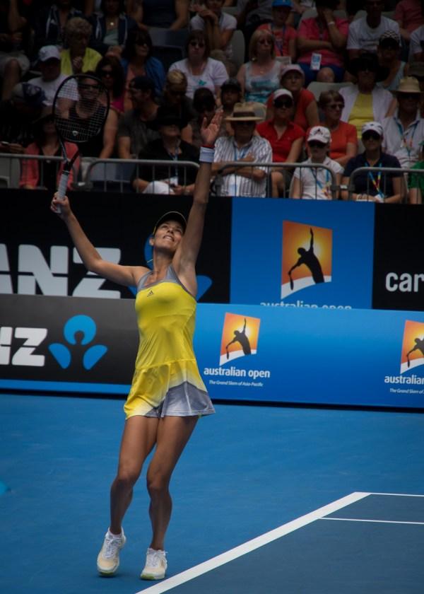 Ana Ivanovic serving it up