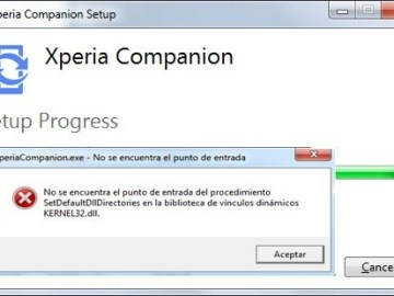 Error al instalar Xperia Companion en Windows 7