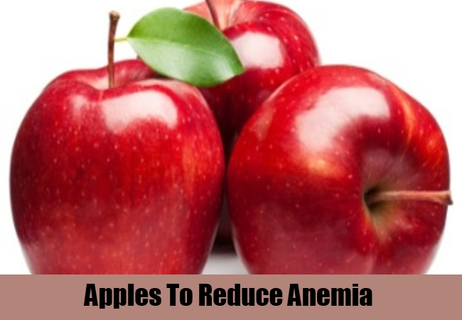 Apples To Reduce Anemia