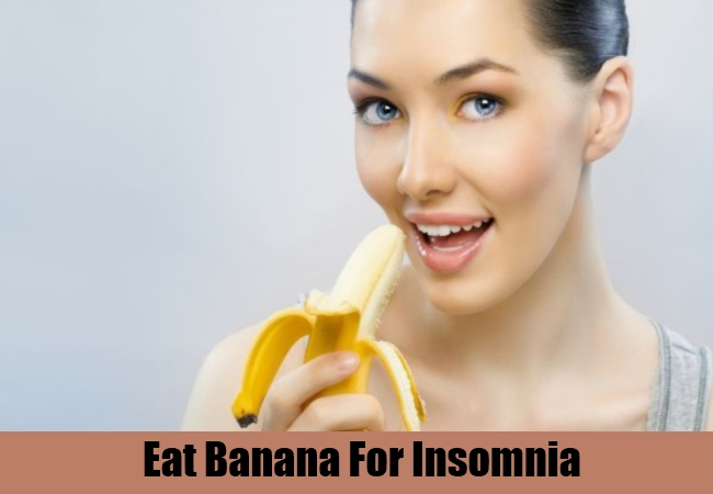 Eat Banana For Insomnia