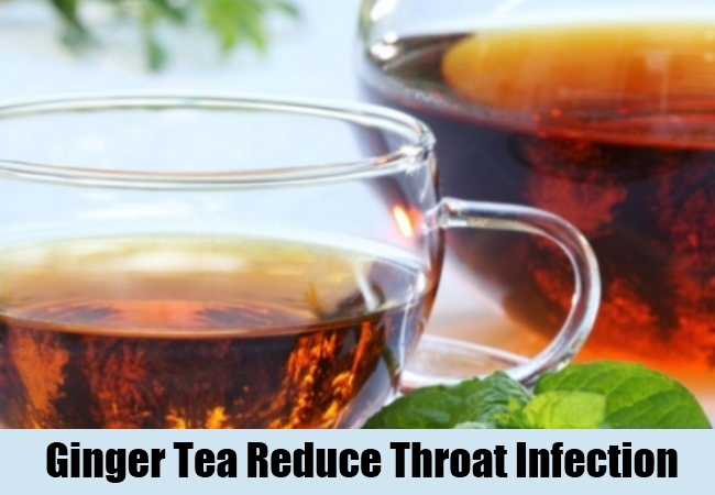 Ginger Tea Reduce Throat Infection