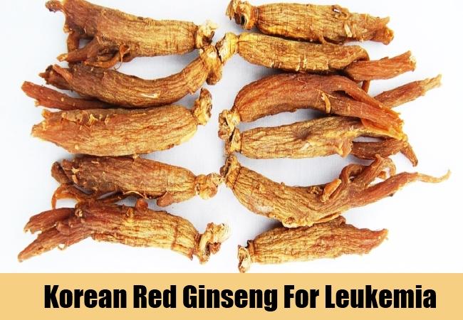 Korean Red Ginseng For Leukemia