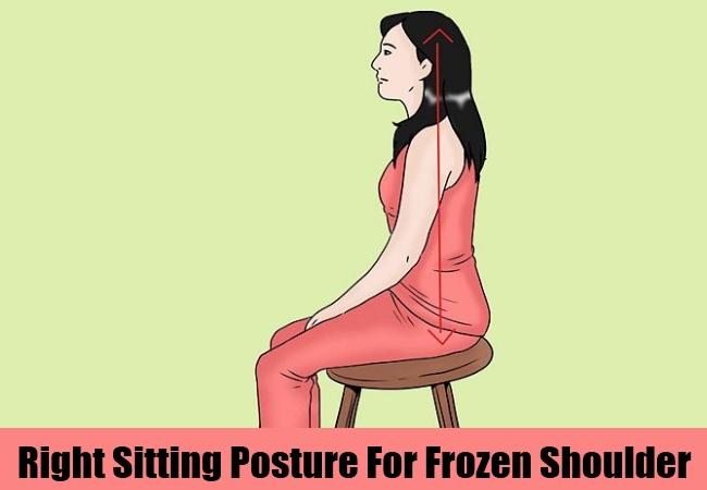 Right Sitting Posture For Frozen Shoulder