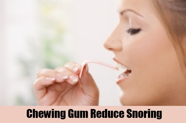 Chewing Gum Reduce Snoring