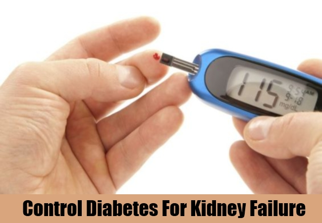 Control Diabetes For Kidney Failure