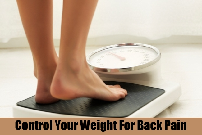 Control Your Weight For Back Pain