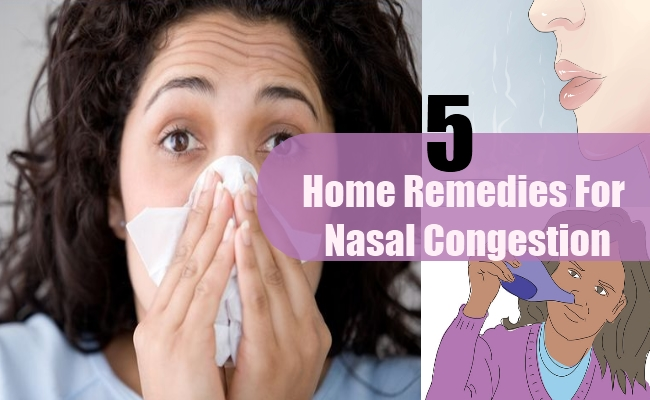 Home Remedies For Nasal Congestion