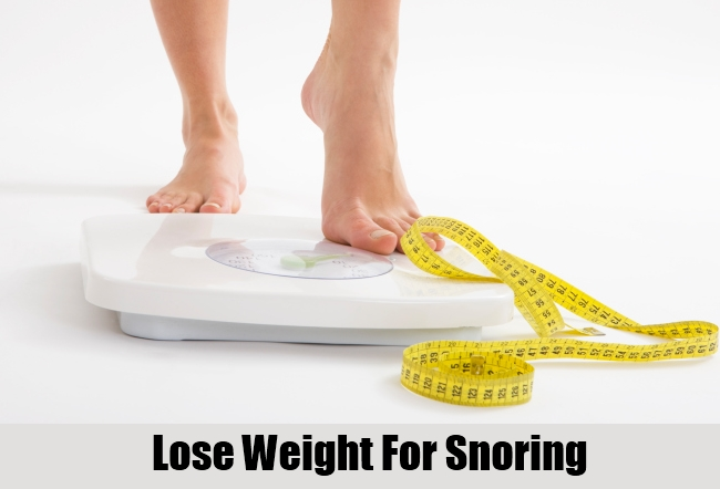 Lose Weight For Snoring