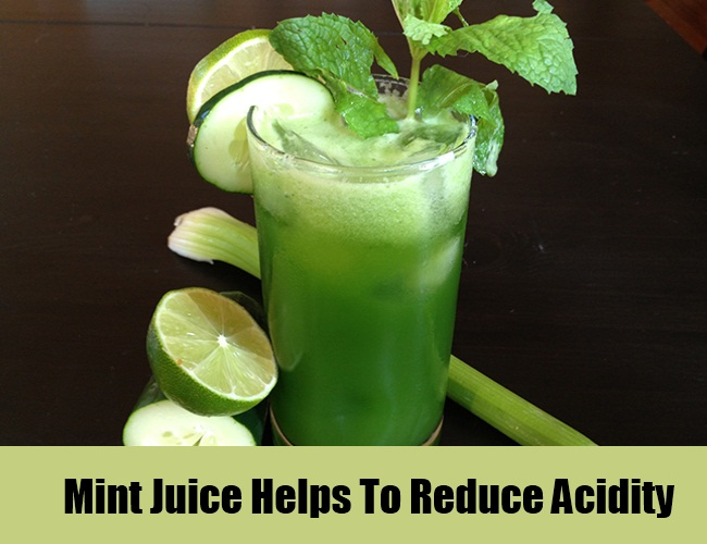 Mint Juice For Acidity