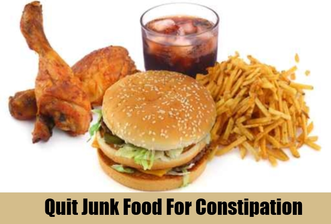 Quit Junk Food For Constipation