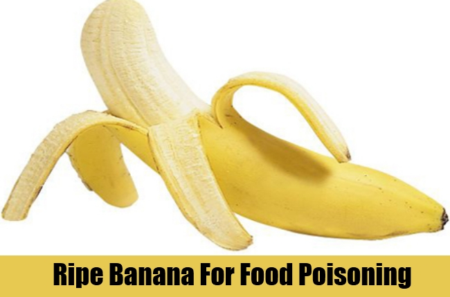 Ripe Banana For Food Poisoning