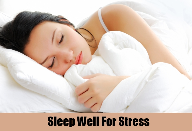 Sleep Well For Stress
