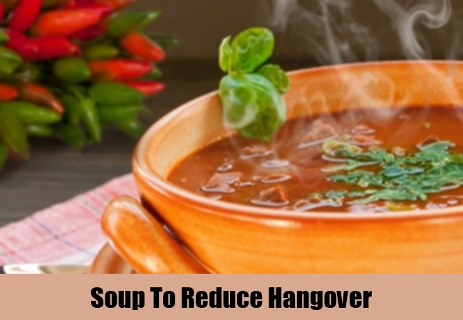 Soup To Reduce Hangover