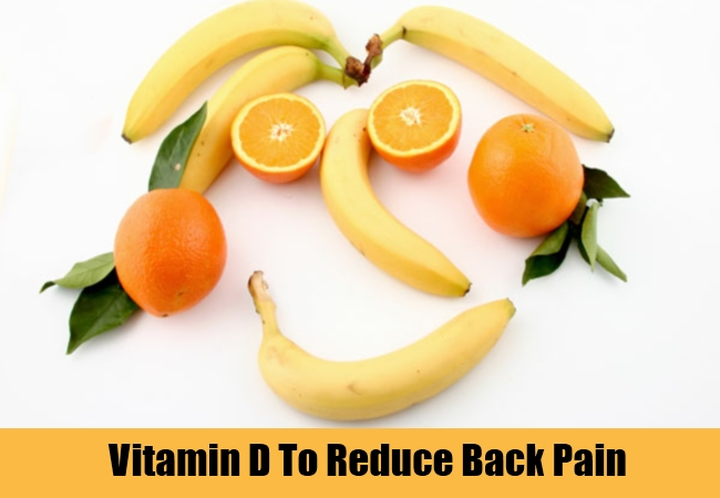 Vitamin D To Reduce Back Pain
