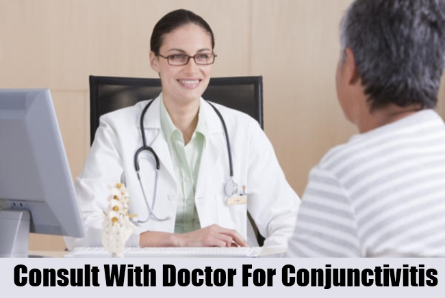 Cosult With Doctor For Conjunctivitis