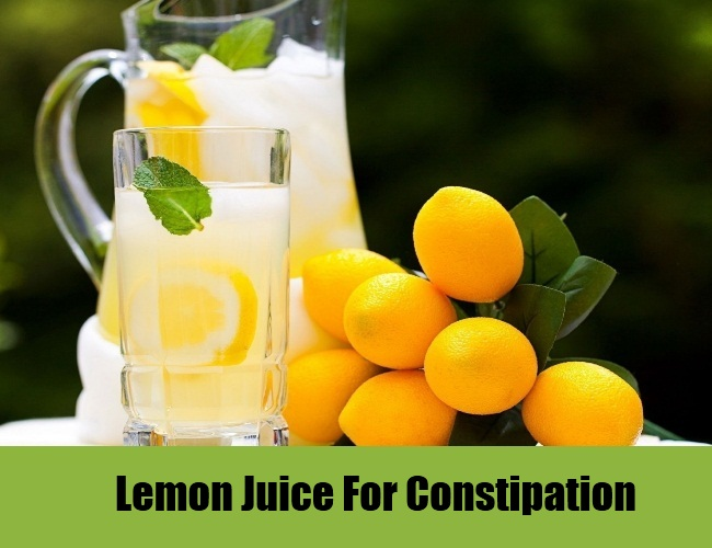 Lemon Juice For Constipation